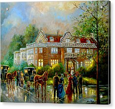 Historical Architecture Indiana Baker House Mansion  Acrylic Print