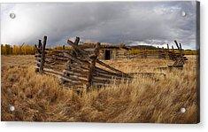 Historical Cabin Montana Acrylic Print by Leland D Howard