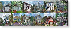 Historical Homes Acrylic Print by Linda Weinstock