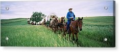Historical Reenactment Of Covered Acrylic Print by Panoramic Images