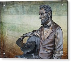 History - Abraham Lincoln Contemplates -  Luther Fine Art Acrylic Print