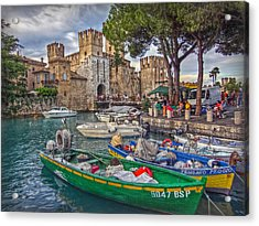 History At Lake Garda Acrylic Print by Hanny Heim