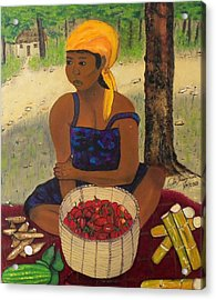 History Behind Caribbean Food Produces Acrylic Print by Nicole Jean-Louis