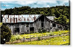 History Left Behind  Old Barn Acrylic Print by Peggy Franz
