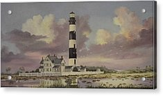 History Of Morris Lighthouse Acrylic Print by Wanda Dansereau