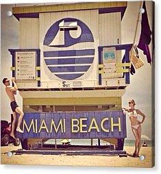 South Beach Acrylic Print by Lisa Piper