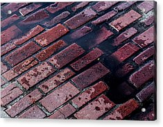Hit The Bricks Acrylic Print by Andrew Pacheco