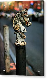Acrylic Print featuring the photograph Hitching Post #1 by Heather Green