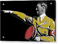 Hitler Saluting #1 Circa 1933-2012  Acrylic Print by David Lee Guss