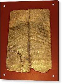 Hittite Cuneiform Tablet Acrylic Print