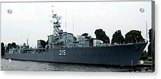 Hmcs Haida Twin Gun Tribal Class Destroyer  Acrylic Print