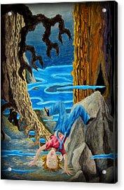 Acrylic Print featuring the painting Hmmmmm by Matt Konar