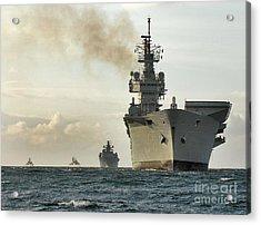 Hms Ark Royal  Acrylic Print by Paul Fearn