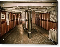Hms Bounty Below Deck II Acrylic Print