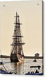 Hms Bounty In Plymouth Harbor Acrylic Print