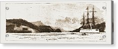H.m.s. Comus At Burrard Inlet, The Present Terminus Acrylic Print by Litz Collection