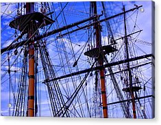 Hms Surprise Rigging Acrylic Print by Garry Gay