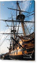 Hms Victory In Portsmouth Dockyard Acrylic Print