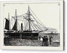 H.m.s. Watchful, Gunboat, Lowestoft Harbour Acrylic Print by Litz Collection