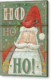 Ho Ho Ho Acrylic Print by P.s. Art Studios