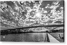 Hoan Bridge Peak Thru Acrylic Print