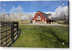 Acrylic Print featuring the photograph Hoar Frosty Morning by Carl Amoth