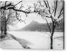 Acrylic Print featuring the photograph Hoarfrost With Sugarloaf by Kari Yearous