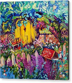 Hobbit House Oil Painting Acrylic Print