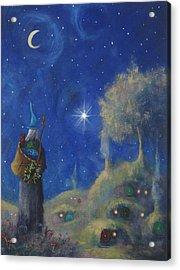 Hobbiton Christmas Eve Acrylic Print by Joe Gilronan