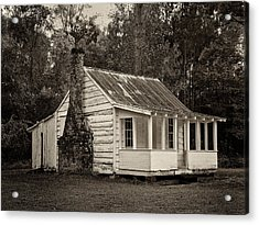 Hobcaw Cabin In Sepia Acrylic Print by Sandra Anderson