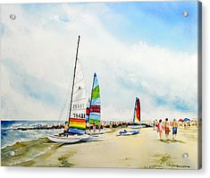 Hobie Cat Sunday Acrylic Print
