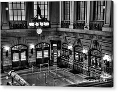 Hoboken Terminal Waiting Room Acrylic Print by Anthony Sacco