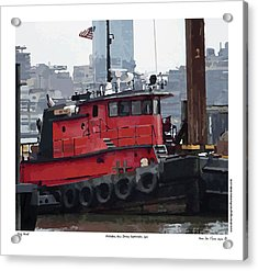 Acrylic Print featuring the photograph Hoboken Tug Boat  by Kenneth De Tore