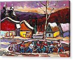 Hockey 4 Acrylic Print by Carole Spandau