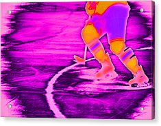 Hockey Freeze Acrylic Print by Karol Livote