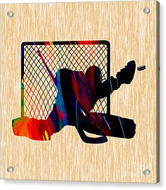 Hockey Goalie Acrylic Print by Marvin Blaine