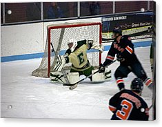 Hockey Off The Handle Acrylic Print by Thomas Woolworth