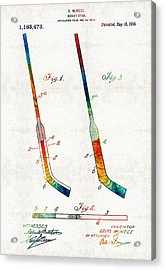 Hockey Stick Art Patent - Sharon Cummings Acrylic Print