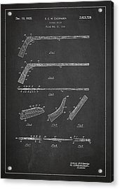 Hockey Stick Patent Drawing From 1934 Acrylic Print by Aged Pixel