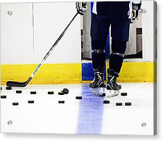Hockey Time Acrylic Print by Shelly Grobstig