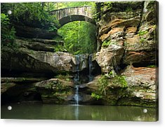 Hocking Hills Waterfall 1 Acrylic Print