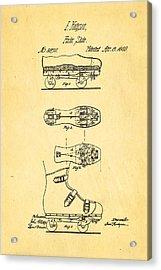Hodgson Roller Skate Patent Art 1869 Acrylic Print by Ian Monk
