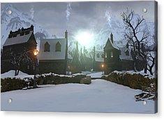 Hogsmeade Acrylic Print by Cynthia Decker