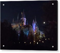 Hogwarts Castle In Lights Acrylic Print