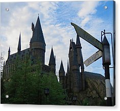 Hogwarts Castle With Signs Acrylic Print