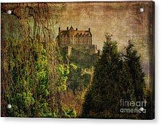 Edinburgh Castle Edinburgh Scotland Acrylic Print by Lois Bryan