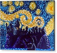 Hogwarts Starry Night Acrylic Print