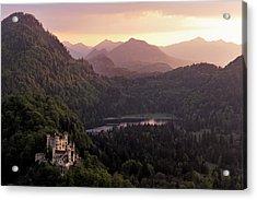 Hohenschwangau Castle Acrylic Print by Francesco Emanuele Carucci
