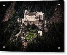 Acrylic Print featuring the photograph Hohenwerfen Castle by Ryan Wyckoff