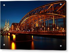 Acrylic Print featuring the photograph Hohenzollern Bridge by Mihai Andritoiu